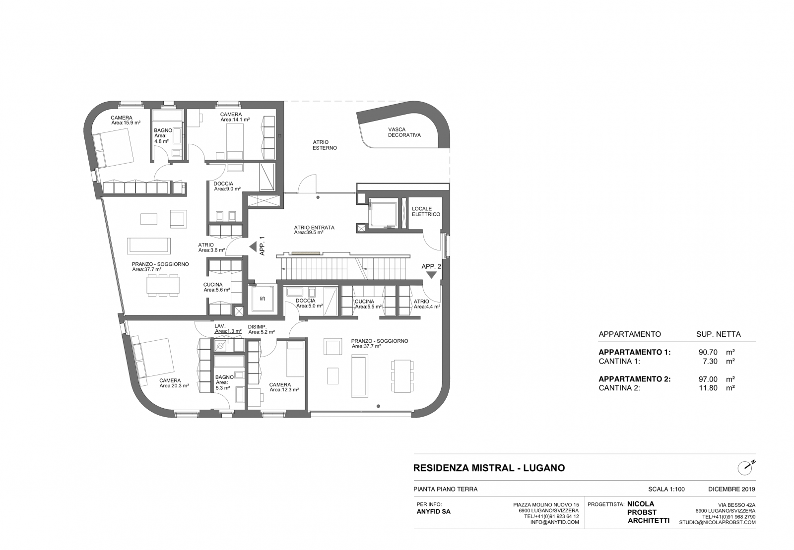 New 3,5 rooms apartments, high standingPlan  #3