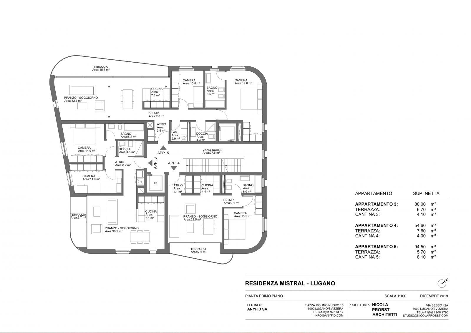 New 3,5 rooms apartments, high standingPlan  #4