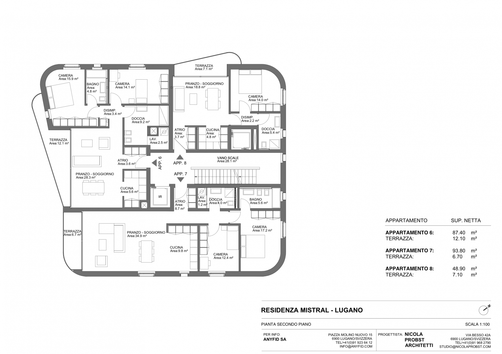 New 3,5 rooms apartments, high standingPlan  #5