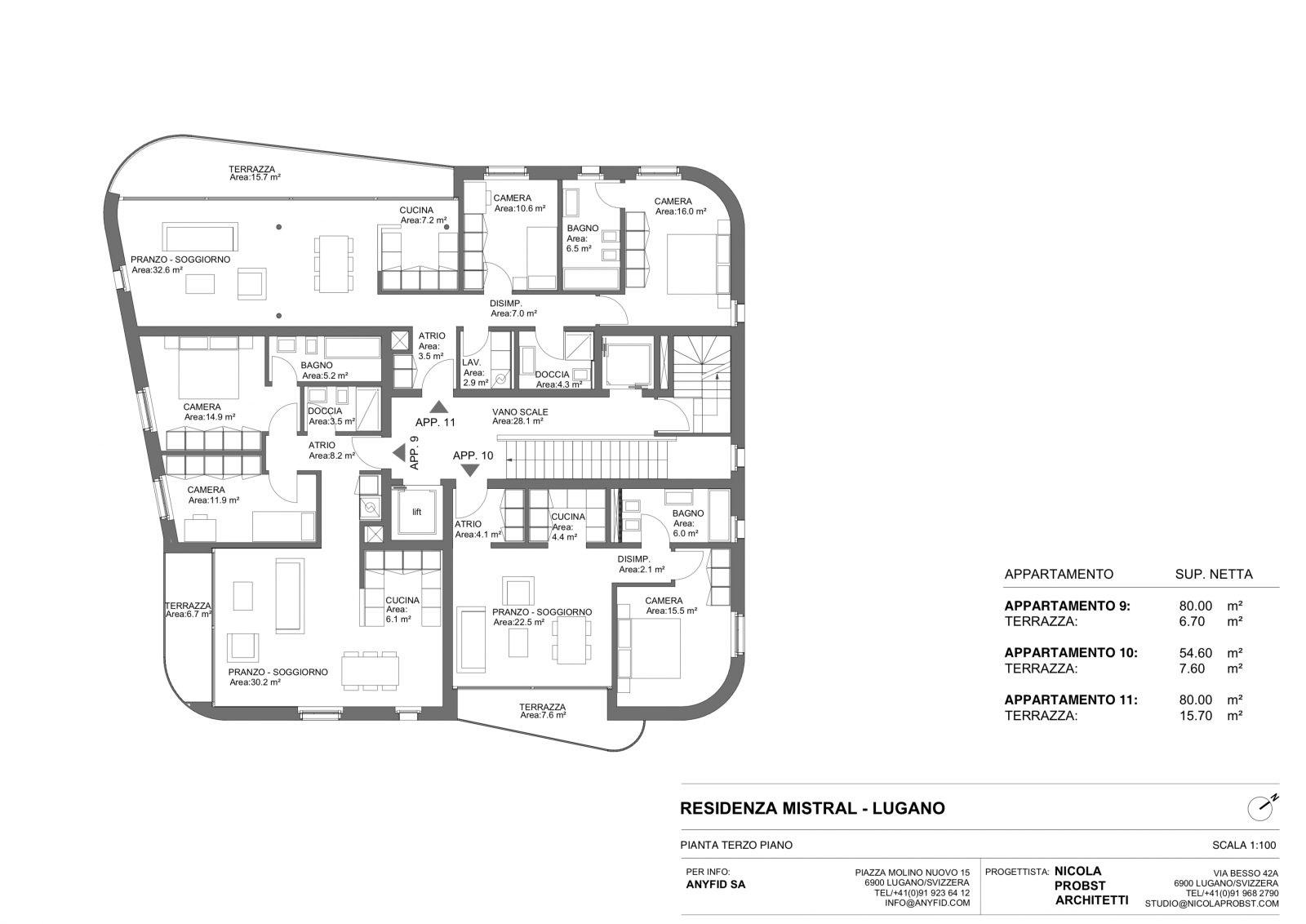 New 3,5 rooms apartments, high standingPlan  #6